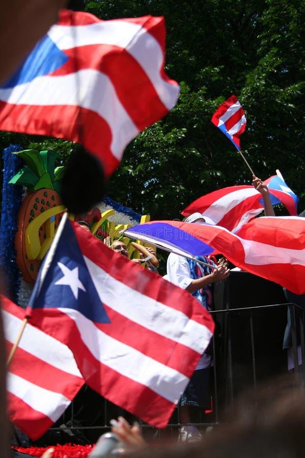 Desfile puertorriqueño de la calle imagenes de archivo