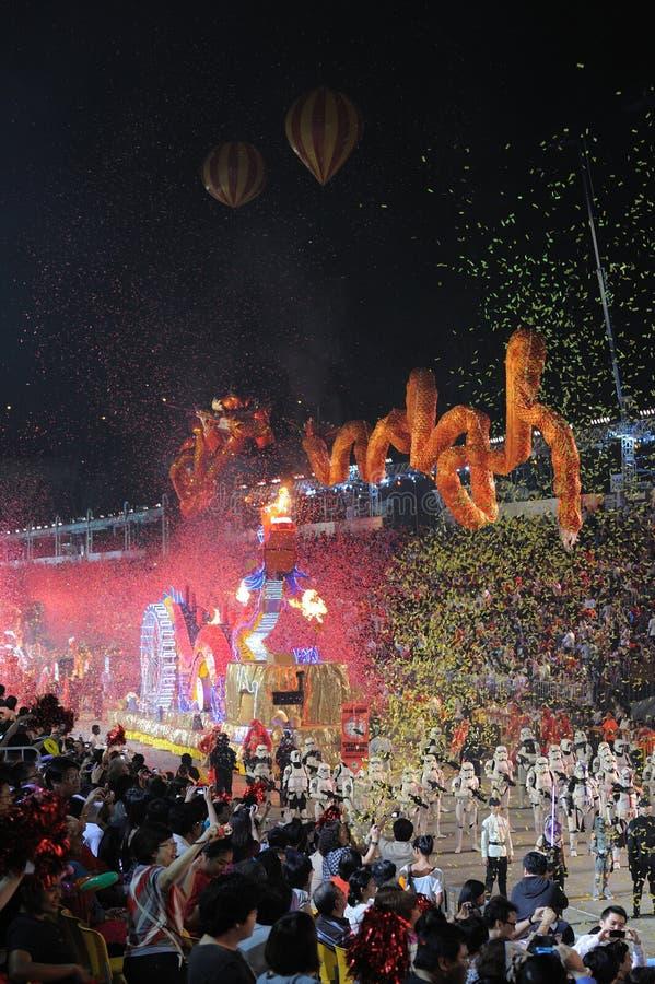 Desfile Singapur de Chingay 2011 fotografía de archivo libre de regalías