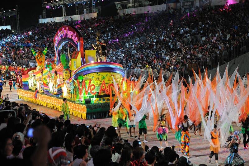 Desfile Singapur de Chingay 2011 foto de archivo