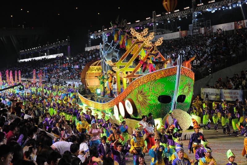 Desfile Singapur de Chingay 2011 imagen de archivo
