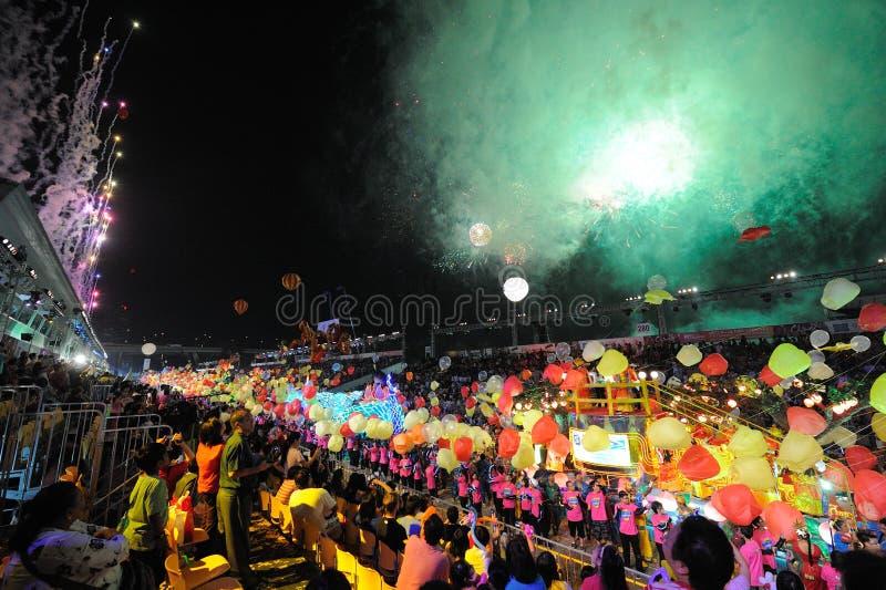 Desfile Singapur de Chingay 2011 imagenes de archivo