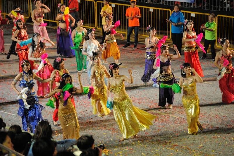 Desfile Singapur de Chingay 2011 imagen de archivo libre de regalías
