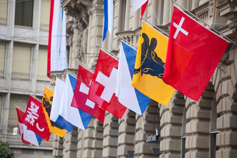 Desfile suizo del día nacional en Zurich imagen de archivo