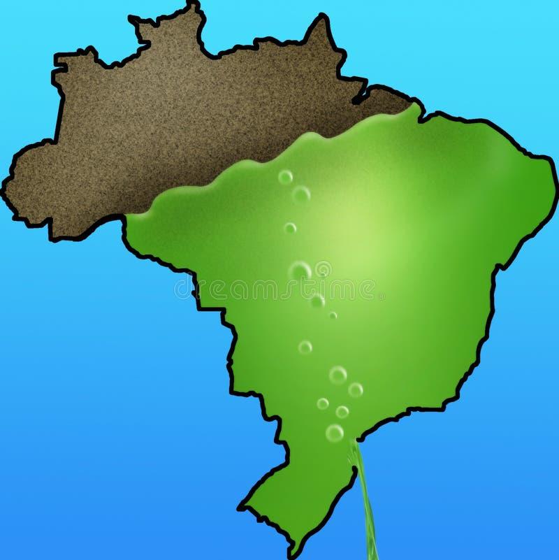 Desflorestamento brasileiro de Amazon ilustração stock