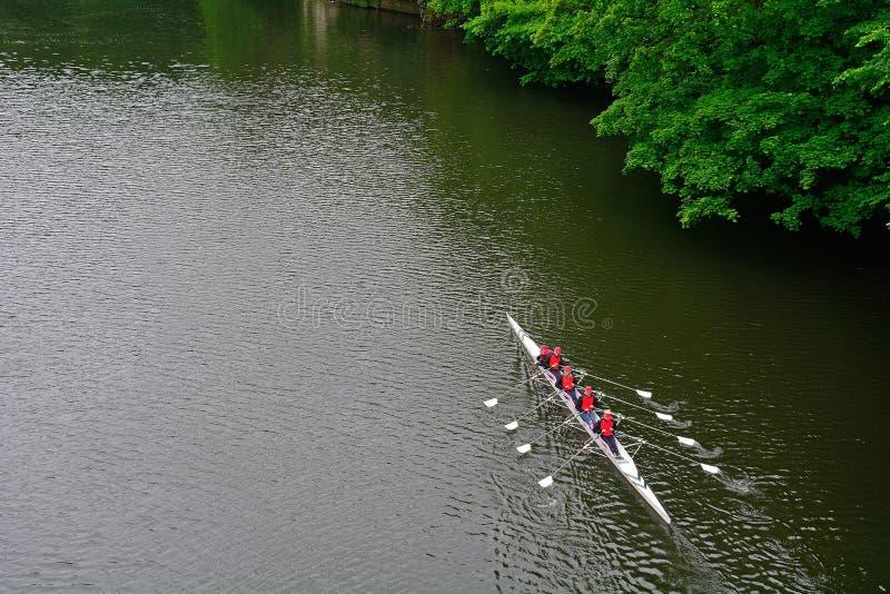 Desgaste del río, Durham, Inglaterra imagenes de archivo