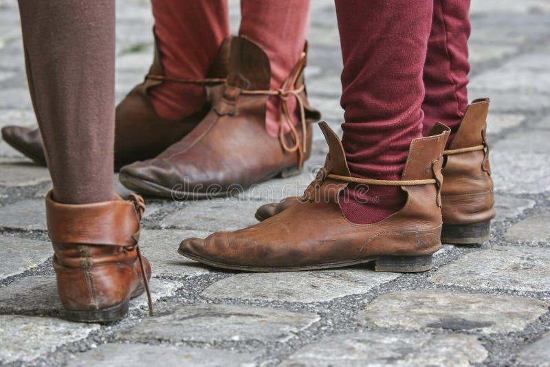 Desgaste medieval del zapato imagen de archivo libre de regalías