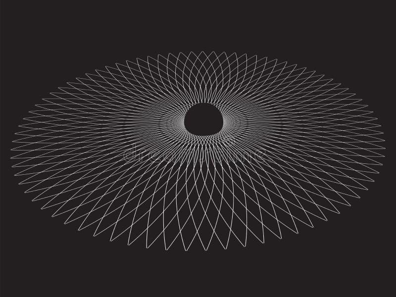 Μαύρη τρύπα Αφηρημένο διανυσματικό υπόβαθρο ελεύθερη απεικόνιση δικαιώματος
