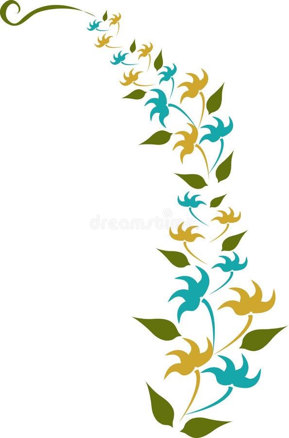 Desgin jaune et bleu de fleur images libres de droits