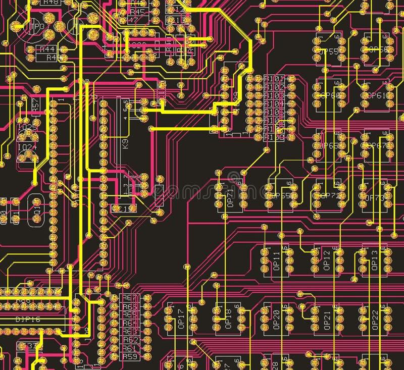The desgn printed circuit board vector illustration