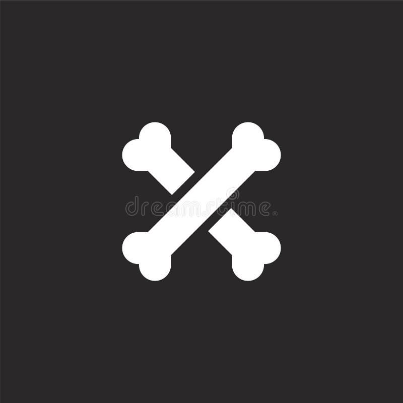 Deshuesa el icono Icono llenado de los huesos para el diseño y el móvil, desarrollo de la página web del app icono de los huesos  ilustración del vector