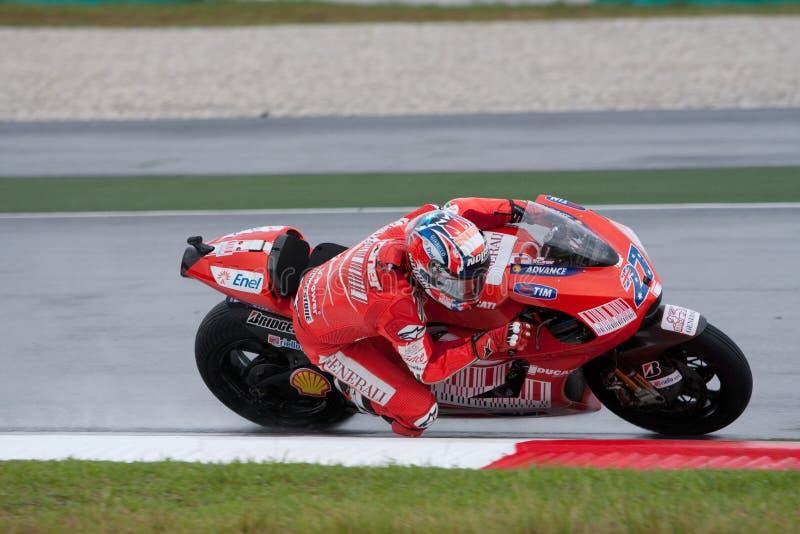 Deshuesadora de Casey en el MotoGP Malasia 2009 fotos de archivo libres de regalías