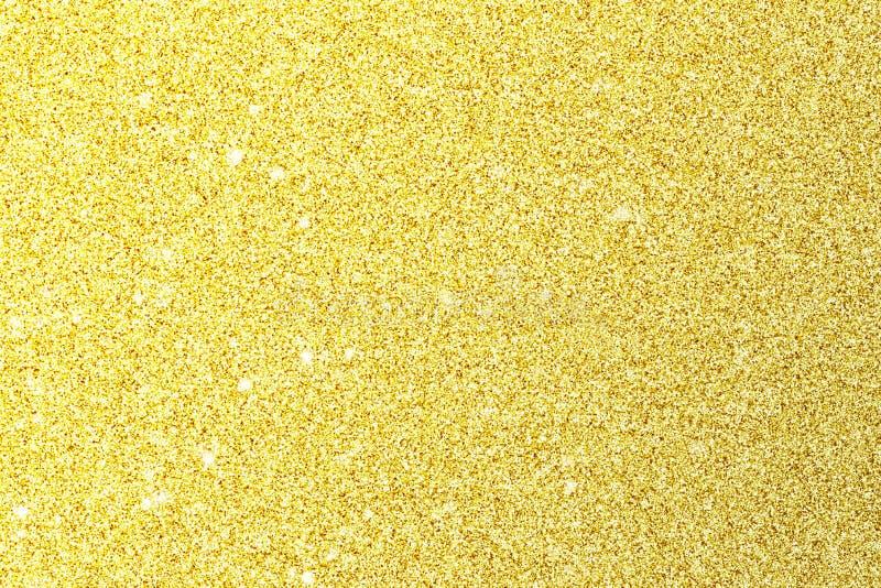Desi abstrato do cartão da celebração do evento do Natal do brilho do ouro do borrão fotos de stock