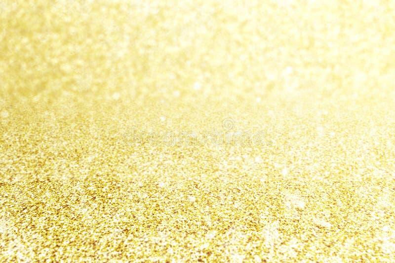 Desi abstrato do cartão da celebração do evento do Natal do brilho do ouro do borrão imagem de stock