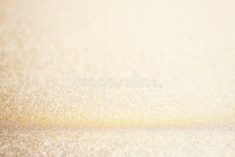 Desi abstrato do cartão da celebração do evento do Natal do brilho do ouro do borrão fotografia de stock royalty free