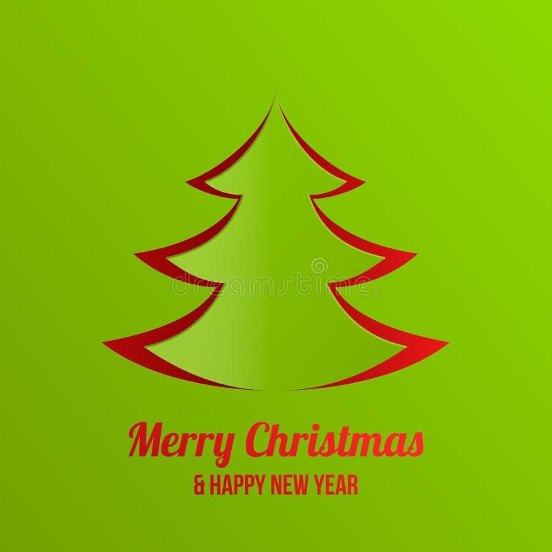 Desi de vecteur de carte de voeux de nouvelle année de Joyeux Noël illustration libre de droits