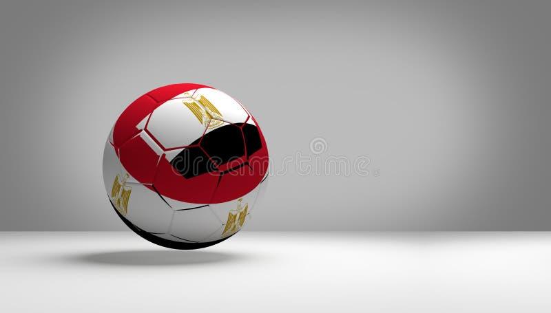 Desi för färg för nationsflagga för tolkning för boll 3d för Egypten fotbollfotboll stock illustrationer
