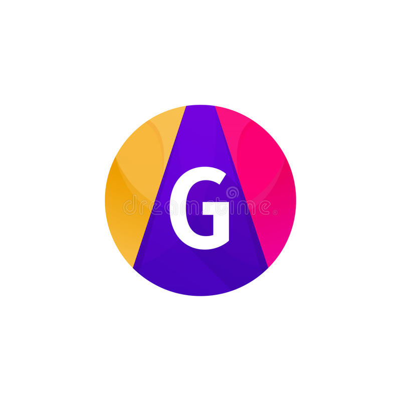 Desi piano divertente di vettore del segno della lettera di G dell'icona di web di logo della sfera del cerchio illustrazione vettoriale