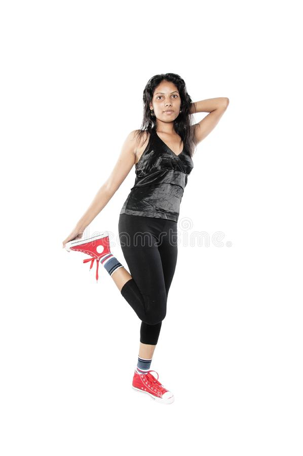 Download Desi Teen Posed In White Background Stock Photo - Image: 33141692