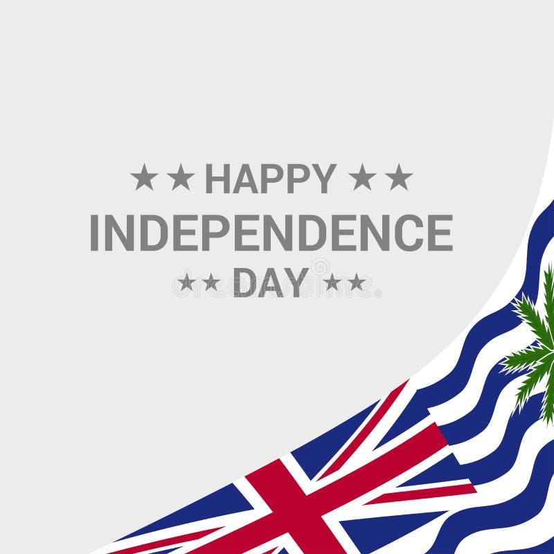 Desi typographique de Jour de la Déclaration d'Indépendance de territoire d'Océan Indien britannique illustration de vecteur
