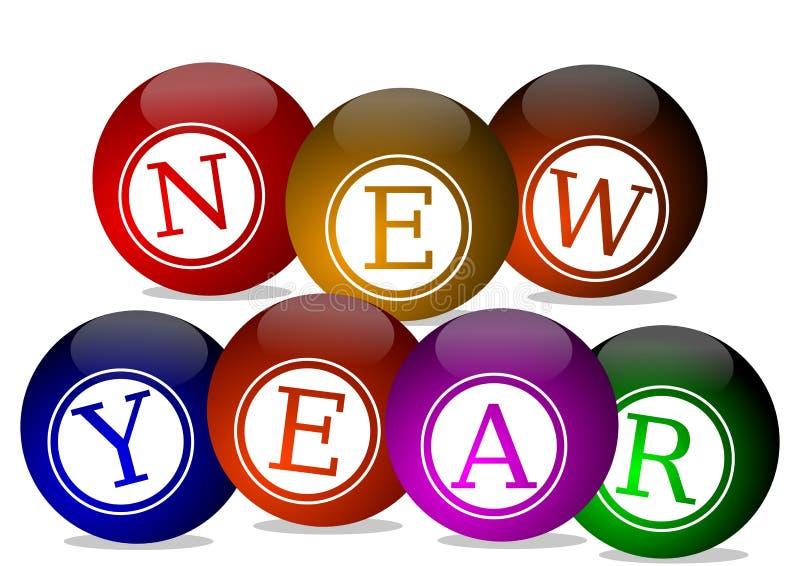 Desideri del nuovo anno illustrazione vettoriale