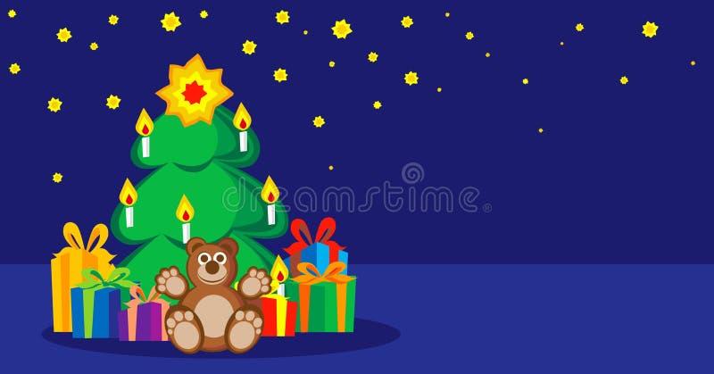 Desideri per il nuovo anno, Natale illustrazione vettoriale