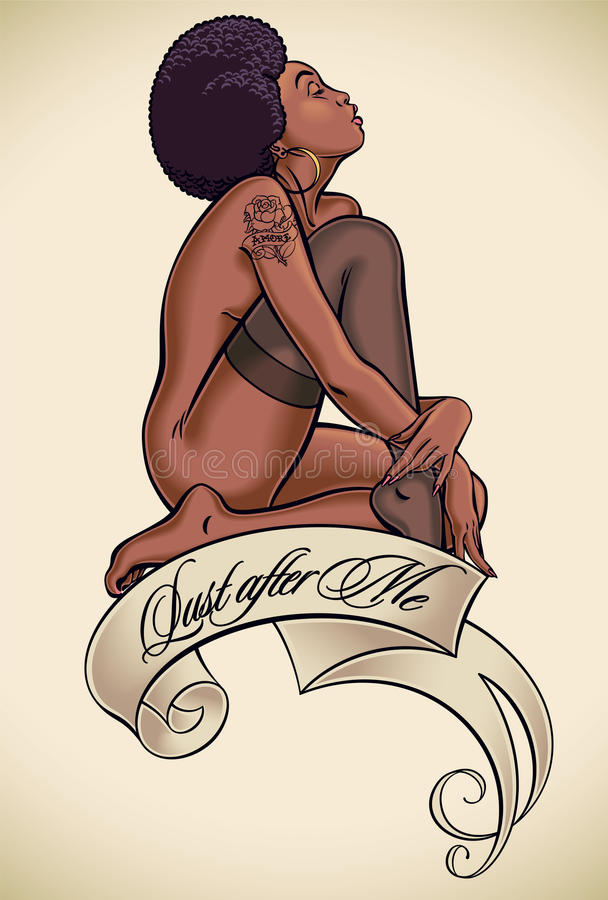 Desiderio dopo me - tatuaggio illustrazione vettoriale