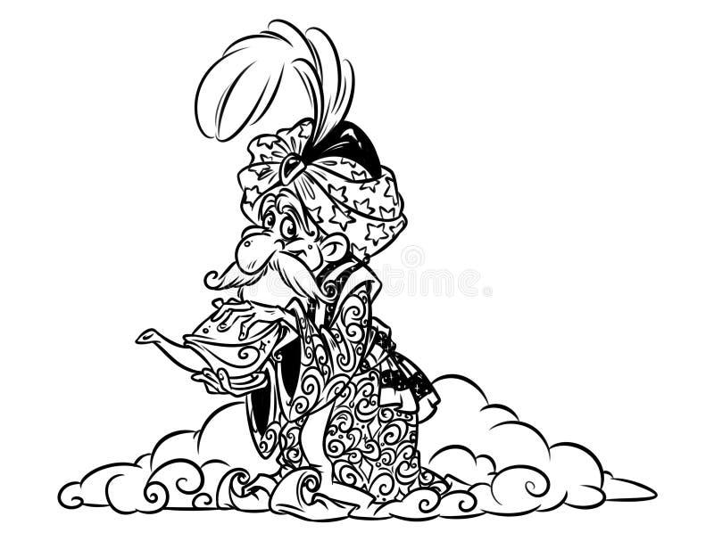Desiderio orientale del mago di Jin illustrazione di stock