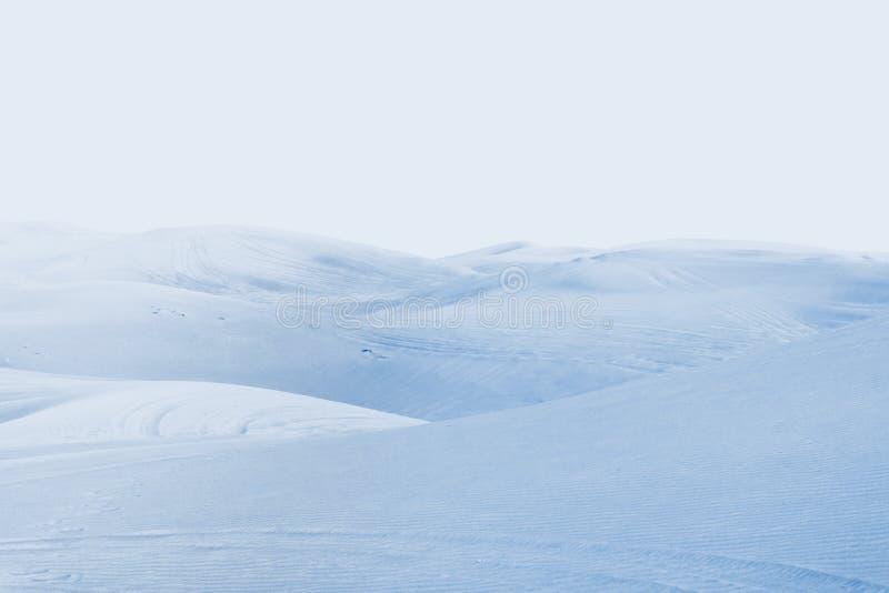 Desierto ártico paisaje del invierno con las derivas de la nieve foto de archivo
