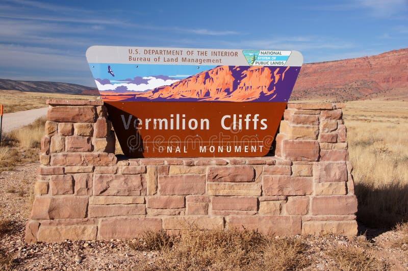 Desierto Barranco-bermellón de los acantilados de Paria, Arizona, los E.E.U.U. fotos de archivo libres de regalías