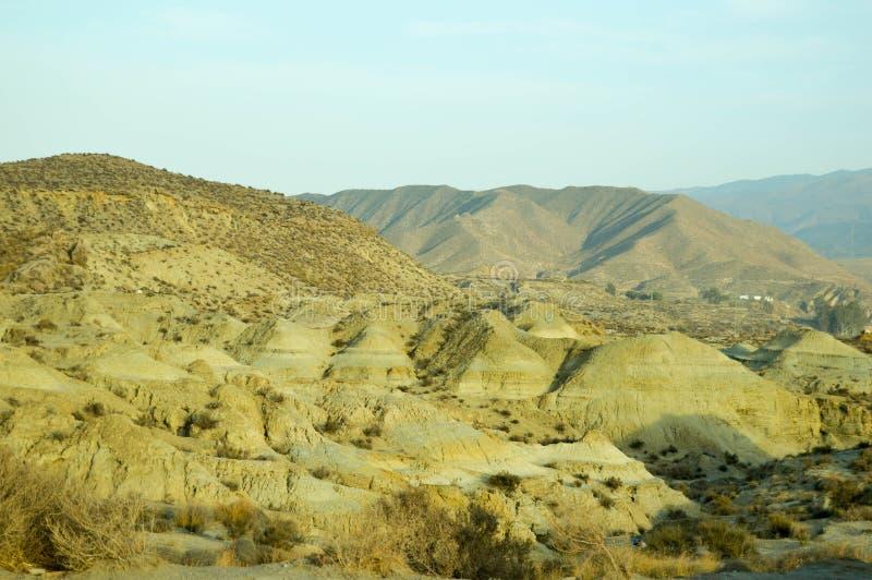 Desierto de Almería fotografía de archivo libre de regalías