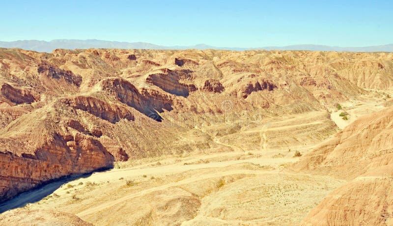 Desierto de Anza-Borrego: erosión fotografía de archivo libre de regalías
