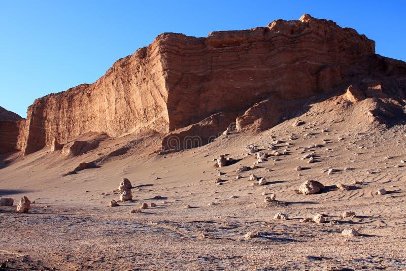 Desierto de Atacama durante puesta del sol imagenes de archivo