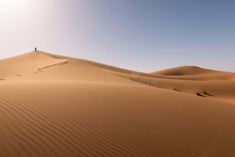 Desierto de Chebbi del ergio de las dunas, Sáhara, Merzouga, Marruecos imágenes de archivo libres de regalías