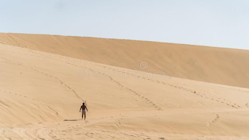 Desierto de Huacachina y dunas de la arena en la región del AIC, Perú foto de archivo