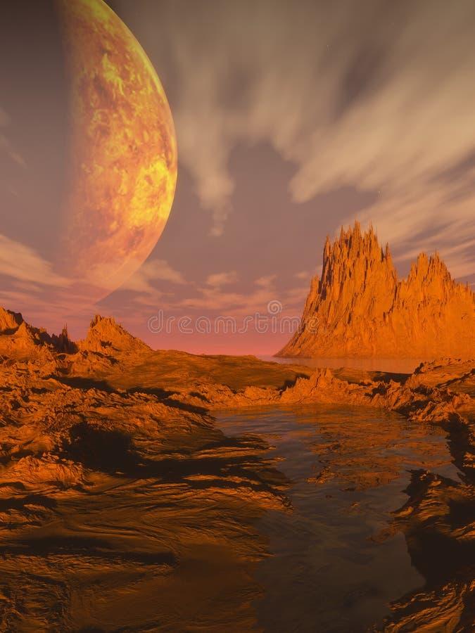 Desierto de la Ciencia-ficción stock de ilustración