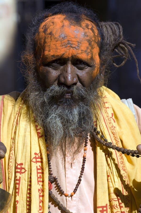 Desierto de la India, Rajasthán, Thar: Persona colorida fotografía de archivo libre de regalías