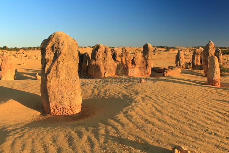 Desierto de los pináculos, Australia occidental fotografía de archivo libre de regalías