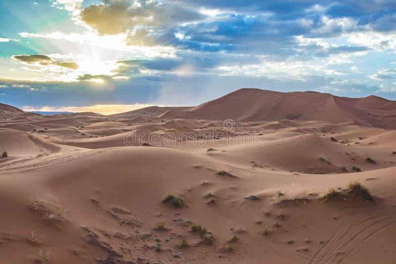 Desierto de Merzouga, Marocco fotografía de archivo libre de regalías