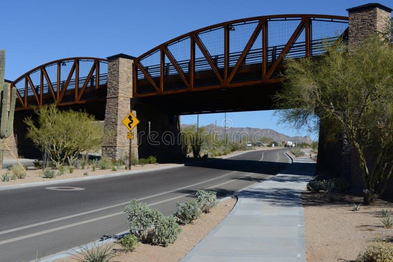 Desierto de Mesa Arizona del puente imagen de archivo