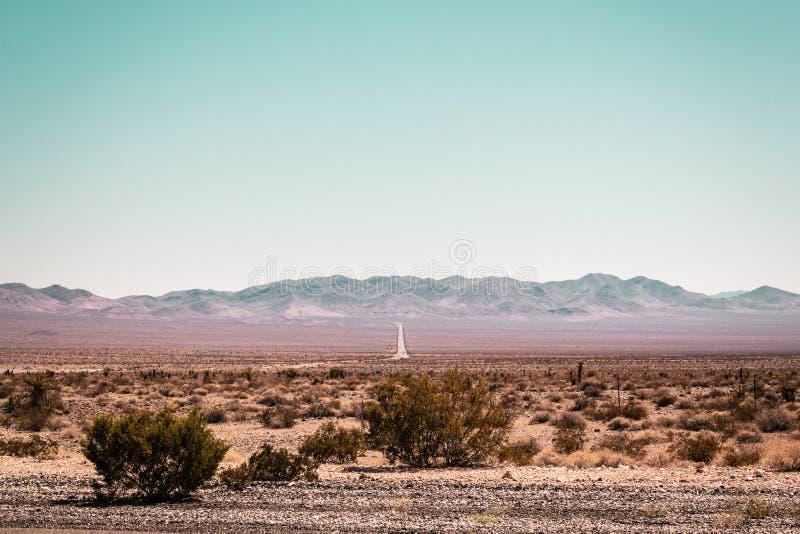 Desierto de Mojave cerca de Route 66 en California imagen de archivo libre de regalías