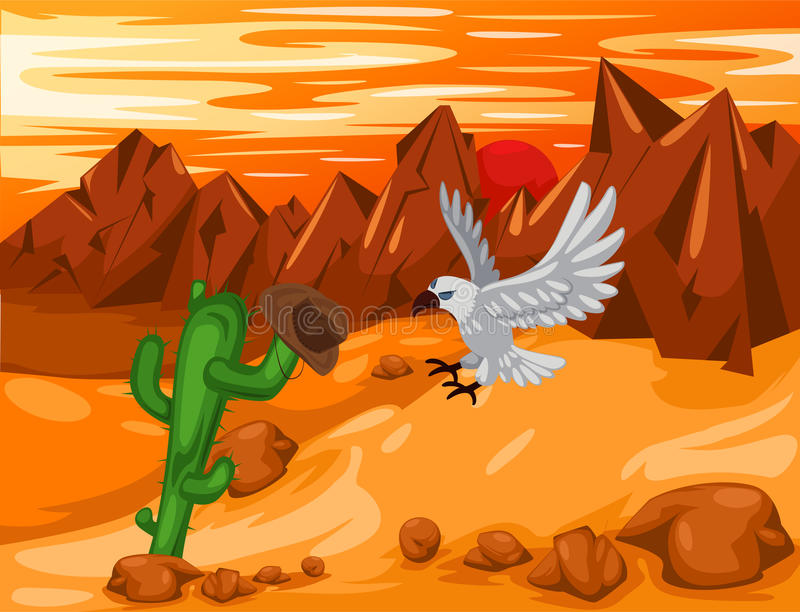 Desierto de Moutain stock de ilustración