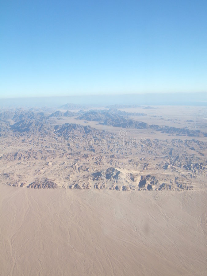 Desierto de Sinaí del plano imagen de archivo libre de regalías