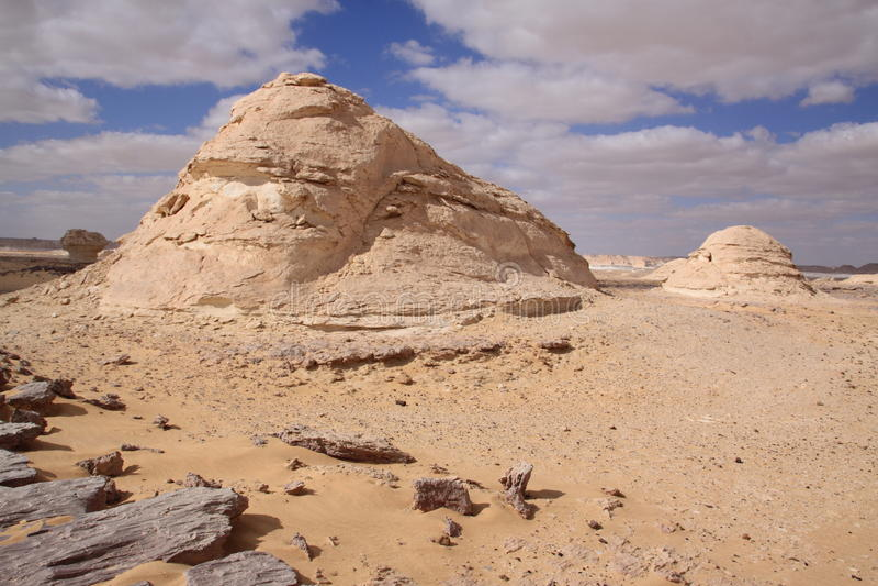 Desierto de Whitte, Egipto imagen de archivo