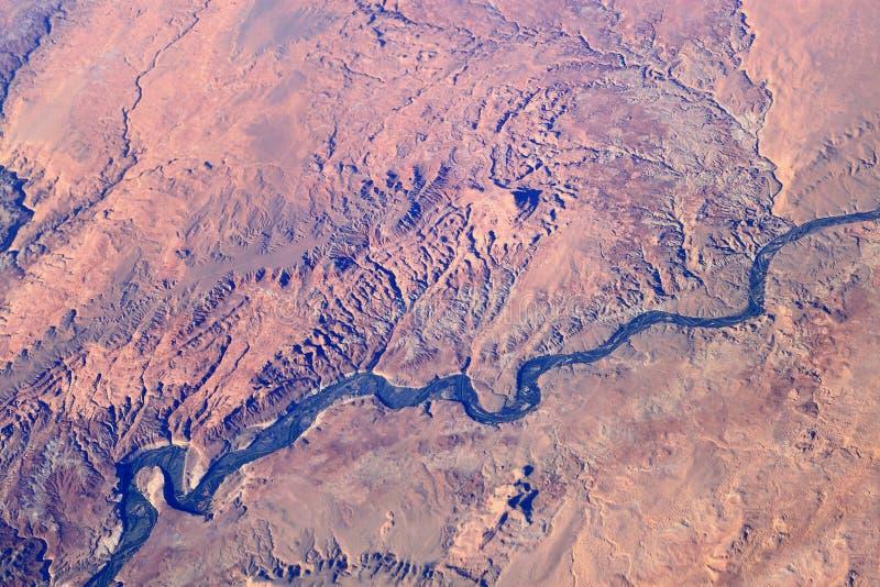 Desierto del barranco de la visión aérea imagen de archivo libre de regalías