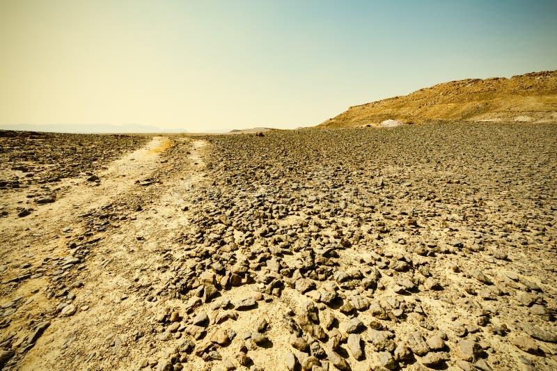 Desierto del estilo del vintage fotos de archivo