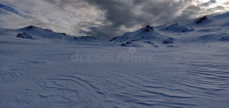 Desierto del hielo y de la nieve en el Tirol fotografía de archivo libre de regalías