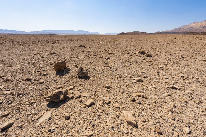 Desierto del N?guev en Israel foto de archivo