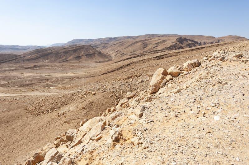 Desierto del N?guev en Israel fotografía de archivo