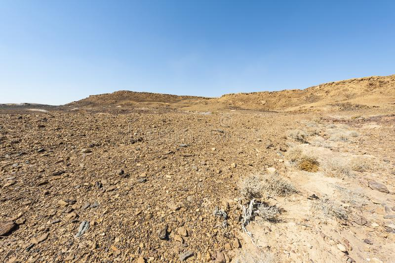 Desierto del N?guev en Israel fotos de archivo libres de regalías