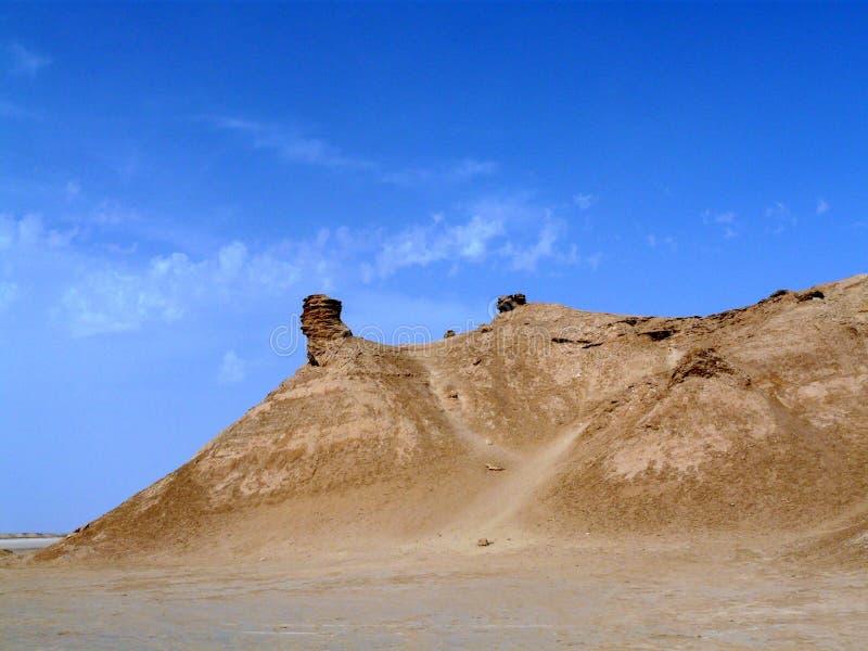 Desierto del Sáhara, Túnez, roca del cuello del ` s del camello imágenes de archivo libres de regalías